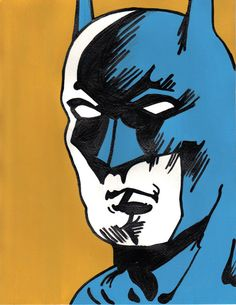 Vintage batman painting