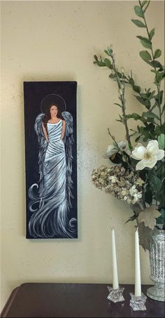 Scripture Abstract Angel Art Original by Florinda on Etsy