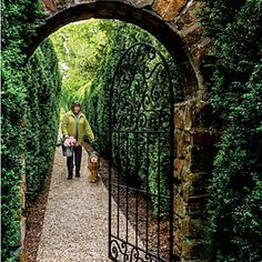 All-Green Garden Design | The American Boxwood Allee | SouthernLiving.com