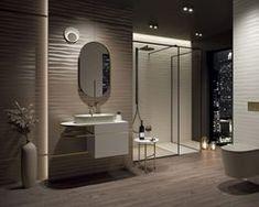 Galeria łazienek - zdjęcia, gotowe projekty - Domni.pl Palazzo, Bathroom Lighting, Mirror, Furniture, Calm, Design, Home Decor, Bathroom Light Fittings, Bathroom Vanity Lighting