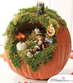 35 Most Creative DIY Halloween Fairy Garden Design Ideas Diy Halloween, Deco Porte Halloween, Halloween Pumpkins, Halloween Diorama, Halloween Halloween, Outdoor Halloween, Fake Pumpkins, Halloween Flowers, Halloween Costumes