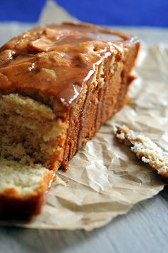 Apple Cider Caramel Glazed Pound Cake