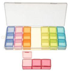 21 Slot 7 Day Colorful Pill Box Medicine Organizer Storage Container Case 7 Days