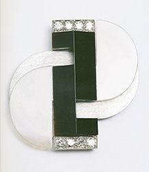 Raymond Templier brooch art deco
