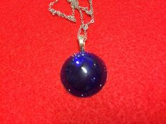 Deep Blue Stainless Steel Necklace  FREE SHIPPING  by 3GEMerations