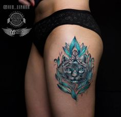 Turquoise cat by Lenara