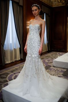Marchesa. See all the best bridal gowns on the spring 2016 runways.
