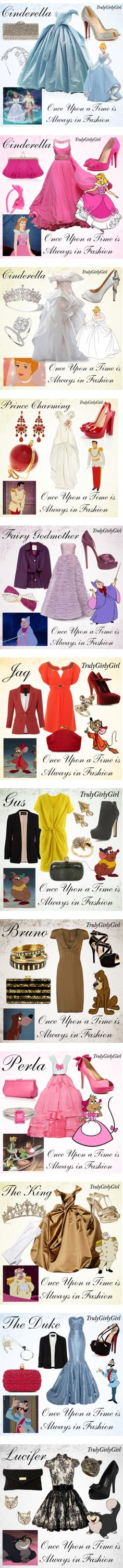Disney Style: Cinderella by trulygirlygirl on Polyvore featuring Christian Louboutin, Rodo, Louis Mariette, RoomMates Decor, disney, cinderella, Disney, L. Erickson, Cartier and Christian Dior