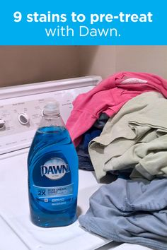 14 Clever Deep Cleaning Tips & Tricks Every Clean Freak Needs To Know Diy Cleaners, Cleaners Homemade, Household Cleaning Tips, Cleaning Hacks, Laundry Stain Remover, Grass Stains, Dawn Dish Soap, Laundry Hacks, Clean Freak