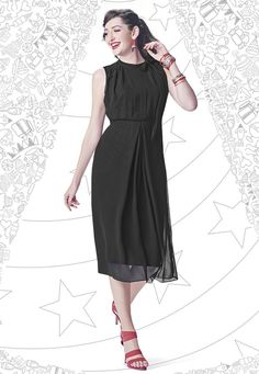 """""""Life becomes easier and more #beautiful when we can see the good in other people."""" Black #Color Georgette Designer #Top"""