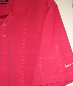 bc825cbf NIKE GOLF RUGBY DRY FIT SHORT SLEEVE DARK PINK POLO ATHLETIC SHIRT MENS X  LARGE #