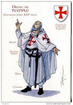 Chevalier Templier du debut XIII eme Siecle