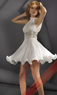 Halter Dress By Jovani 158558,Short White Homcoming Dress,Coctail Dress,Sexy Party Dress