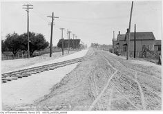 "Danforth East of Pape in Toronto, 1913 - Aren't ""then and now"" pictures fascinating? Yonge Street, North York, Canada Travel, Landscape Photos, Abandoned Places, Cool Photos, Amazing Photos, Ontario, Places To See"