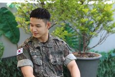 Hyunsik Btob, Military Jacket, Button Down Shirt, Men Casual, Mens Tops, Shirts, Field Jacket, Dress Shirt, Military Jackets