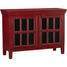 Great Crate U0026 Barrel Look Alikes: Crate And Barrel Rojo Red Media Storage Cabinet  $699