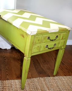 Antique table refinish by my own auntie Megan--LOVE!