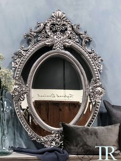 Eugenia: Ornate oval sectional bevelled mirror Oval Mirror, Contemporary, Modern, Chalk Paint, French Country, Mirrors, Artisan, Carving, Colours