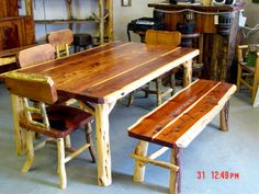 Google Image Result for http://www.allthingsrustix.com/media/rustic_log_cedar_dining_table_6ft_bench.jpg