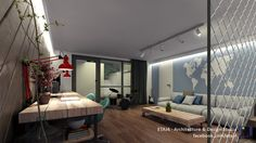 Interior design project for a single family house in Cluj, Romania - House Traktor // Design & visualization by ETAJ4