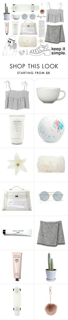 """""""My Youth..."""" by jennytrends ❤ liked on Polyvore featuring MANGO, Arabia, Shiseido, Clips, Mina Victory, Hermès, Le Specs, Bobbi Brown Cosmetics, HAY and Roxy"""