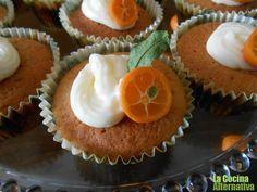Receta de magdalenas de naranja al jengibre (de espelta)