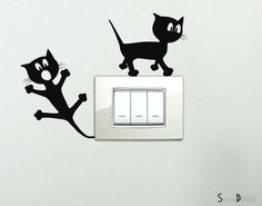 Adesivi per interruttore spine placche Adesivo Simpatici Gattini Wall Stickers decorativo Adesivi Murali Decorazione Camerette Bambini: Amazon.it: Casa e cucina