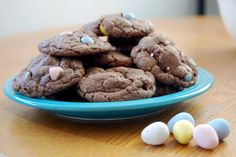Pin for Later: 150+ Ways to Make This Your Kids' Best Easter Ever! Cadbury Egg Cookies Crispy, chocolatey cookies with Cadbury Mini Egg crunch inside will be the hit of your Easter celebration! Source: Project Bake Blog