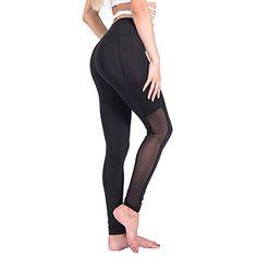7817cb3d465b Amazon.com : WANGEST Yoga Pants for Women High Waist Capri Tummy Control  Workout Leggings : Sports & Outdoors