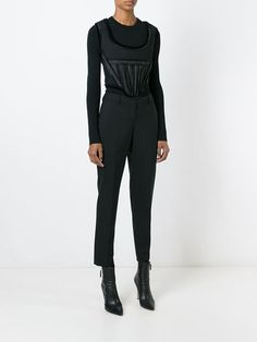 panelled cropped top