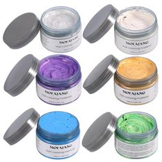 Temporary Purple Hair Wax YHMWAX Fashion Colorful Hair Wax Pomades Disposable Natural Hair Strong Style Gel Cream Hair DyeInstant Hairstyle Mud Cream for Party Cosplay Masquerade etc. Purple * See this great product. (This is an affiliate link) Men Hair Color, Hair Colors, Temporary Hair Color, Permanent Hair Dye, Hair Wax, Strong Hair, Hair Painting, Shiny Hair, Silver Hair