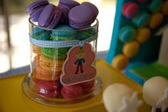 Rainbow Macarons by Bubble and Sweet, via Flickr