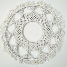 Circle Macrame Wall Hangings by MacramadeAU on Etsy https://www.etsy.com/au/listing/585019943/circle-macrame-wall-hangings