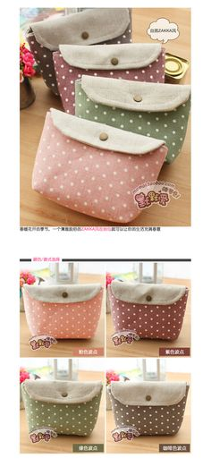 Cute Polka Dot Cosmetic Versatile Storage Cosmetic Holding BAG-in Wallets from Luggage & Bags on Aliexpress.com | Alibaba Group