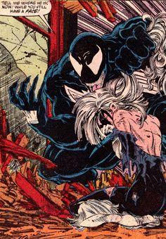 Venom and Black Cat by Todd McFarlane via Amazing SpiderMan