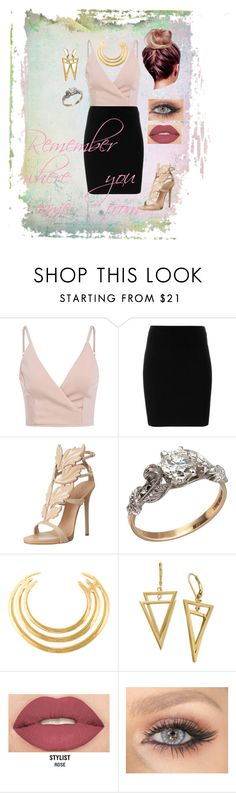 """""""Remember where you came from"""" by destinyah on Polyvore featuring T By Alexander Wang, Giuseppe Zanotti, Aurélie Bidermann and Smashbox"""