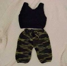 Hearts of Gold Preemie Knits Camoflauge