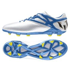 Adidas Messi 15.1 Firm Ground Football Boots White - Available at Kitbag.com.