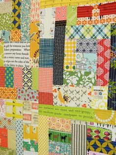 Scrappy Wall Hanging by lauriewis | Laurie Wisbrun, via Flickr