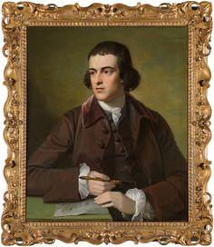 Portrait of John Grey collection of portrait paintings by  Benjamin West/ 76x63 cm/ Signed B. West 1776 center left/ Original frame