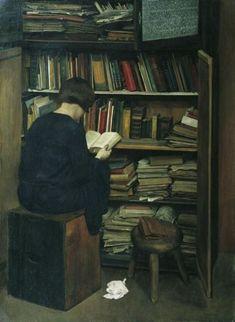 Friedrich Frotzel (Austrian, 1898-1971) - Der Alte Bücherkasten, 1929