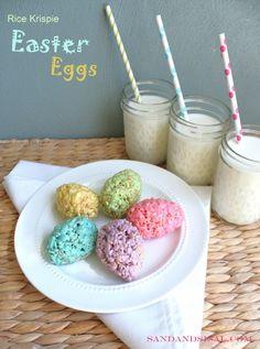 Rice Krispie Easter Eggs - Sand  Sisal