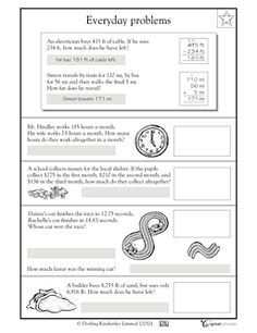 Worksheet Everyday Math Worksheets to work student and the ojays on pinterest everyday math problems