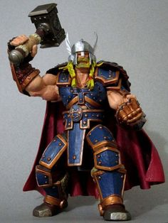 Thor in Armor (Armor of Might) Custom Action Figure