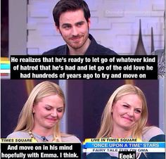 This interview and the face she makes when he talked about Emma and Hook