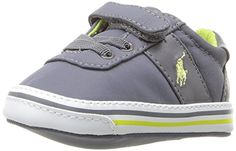 Ralph Lauren Layette Hanford EZ Sneaker InfantToddler Grey 3 M US Infant -- You can find more details by visiting the image link.Note:It is affiliate link to Amazon.