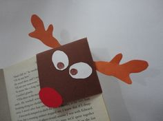 Marque pages en coin renne de Noël en papier (image) Diy For Kids, Crafts For Kids, Corner Bookmarks, Theme Noel, December Daily, Xmas Gifts, Little Ones, Origami, Projects