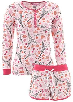 a49d95a669 Love Loungewear Juniors Paris Shorty Pajamas