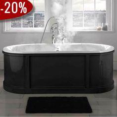 King Charles Badekar, Støbejern - Badekaret måler 1.700 x 680 mm - Spændende twist i moderne omgivelser   Bredt udvalg af badekar kan købes billigt online hos VillaHus.com