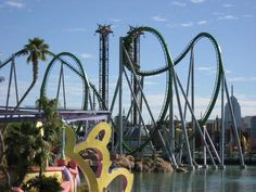 The Hulk rollercoaster at Universal Studios Islands of Adventure in Orlando. Love this park and this ride was my favourite. Kids called me Crazy Mummy!